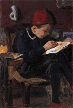 The young painter - Nikiforos Lytras,  Ο μικρός ζωγράφος- Νικηφόρος Λύτρας (1832-1904)