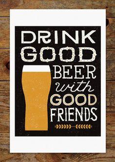 Craft Beer Drink Good Beer with Good Friends Cheers by groovygravy: