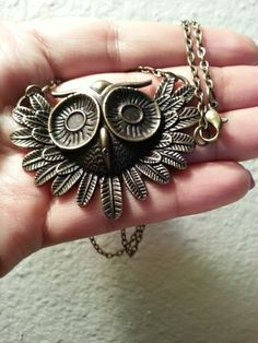 Adorable Owl Necklace with chain. ONLY $0.60 with free shipping! How can this be?