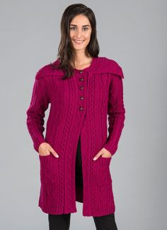 4a5ebcf33b Nellie Aran Collar Cardigan - Features include a collar that lends  exquisite detail