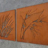 garden landscape rusty finish decorative panel