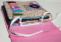 kuka and bubu: Quiet book: finished! Diy Quiet Books, Baby Quiet Book, Felt Quiet Books, Binding Quiet Book, Quiet Book Tutorial, Silent Book, Sensory Book, Quiet Book Patterns, Busy Book