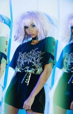 Fall fashion inspo: layered and punk with Ashley for LF Fall 2016 Pastel Goth Outfits, Pastel Goth Fashion, Grunge Fashion, Street Fashion, Small Celebrities, Psychedelic Fashion, Boho Rock, Street Goth, Lonely Heart