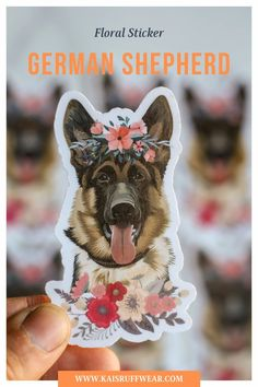 German Shepherd Sticker – Kai's Ruff Wear Perfect for your laptop, reusable water bottle, or anything you wish to customize.Please note that the colors of the sticker may vary slightly due to resolution of different screens.Kai's Ruff Wear donates 10% of every purchase to nonprofit animal shelters/rescues.These stickers have a clear laminate on them to help make them waterproof and weatherproof. Soaking them can cause damage to them though and I recommend hand washing ONLY. Dog Dad Gifts, Gifts For Dog Owners, Dog Lover Gifts, Dog Lovers, Dog Mom Shirt, Animal Shelters, Crazy Dog Lady, Dog Boarding, I Love Dogs