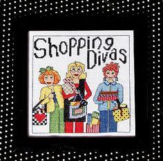 0 point de croix shopping divas - cross stitch