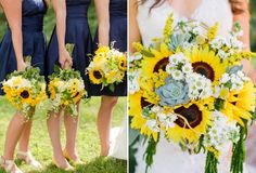 Clear Blue Sky, Bridesmaid Bouquet, Sunflowers, Summer Wedding, Summertime, Blog, Blogging, Sunflower Seeds