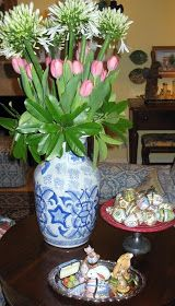 We were to head off to France early next week, so I didn't plan to put my Easter things out this year. Then Life interfered, caused the t...