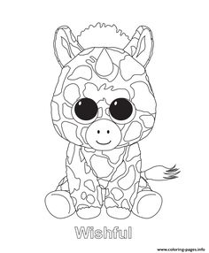 Print wishful beanie boo coloring pages