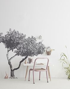 Repositionable Fabric Tree Wall Sticker Childrens Bedroom | Sian Zeng — Sian Zeng