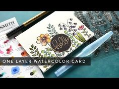 One Layer Watercolor Card – kwernerdesign blog