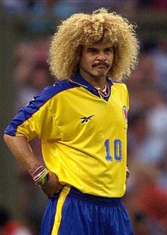 Colombian Soccer Star Carlos Pibe Valderrama Fine Bijouterie made with semiprec Football Icon, Best Football Players, Good Soccer Players, World Football, Sport Football, Carlos Valderrama, Most Popular Sports, Soccer Stars, Sports Figures