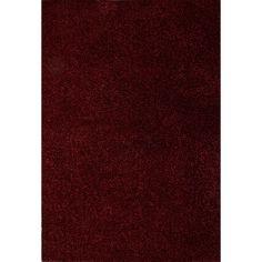 Cordon Polyester Red Shag Area Rug