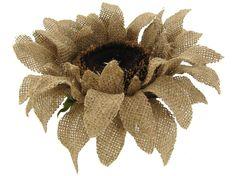 burlap sunflowers   Home   Wedding & Floral   Floral Stems   28 Natural Burlap Sunflower