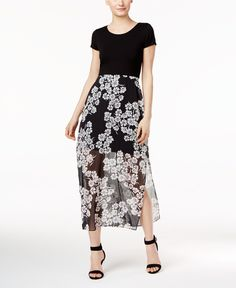 d6e3e718b87d0 Vince Camuto Printed-Overlay Maxi Dress