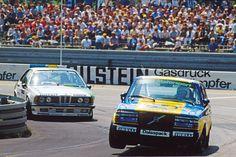 DTM, Nürnberg 1984: Der Trainingsschnellste Per Stureson im Volvo 240 Turbo vor Harald Grohs im BMW 635 CSi des Vogelsang-Valier-Teams.