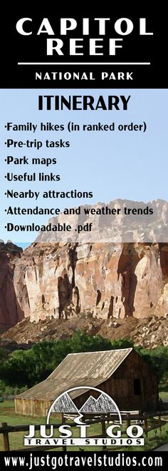 Itinerary of hikes, tasks, maps and more for Capitol Reef National Park Capitol Reef National Park, Us National Parks, Desert Location, Utah Parks, Utah Hikes, Travel Planner, Summer Travel, Plan Your Trip, Oh The Places You'll Go