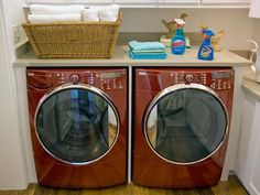 DIYNetwork.com provides tips on how to maximize space in the laundry room.