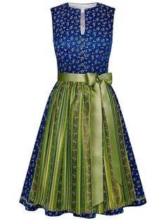 Miss LIMBERRY-Dirndl in Blau mit V-Ausschnitt