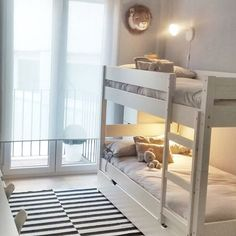 40 Space Saving Bunk Beds For Small Rooms You Need To Copy In 2019 bunk bed ideas, sharing bedroom ideas, shared bedrooms, space saving room ideas Bunk Beds Small Room, Bunk Beds For Girls Room, Bunk Bed Rooms, Kids Bunk Beds, Kids Bedroom, Bunk Bed Ideas For Small Rooms, Ikea Bunk Bed, Bedroom Ideas, White Bunk Beds