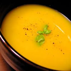 Amazing pumpkin soup -- I halved the recipe and served it as a starter. There wasn't a drop left over!