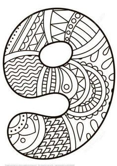 Number 9 Zentangle coloring page from Zentangle Numbers category. Select from 21162 printable crafts of cartoons, nature, animals, Bible and… Free Printable Coloring Pages, Coloring Book Pages, Coloring Pages For Kids, Coloring Sheets, Elephant Coloring Page, Alphabet Coloring, Numbers Preschool, Number 9, Printable Crafts