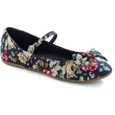 Avoir, Être, Faire Flat in Floral ($30) ❤ liked on Polyvore