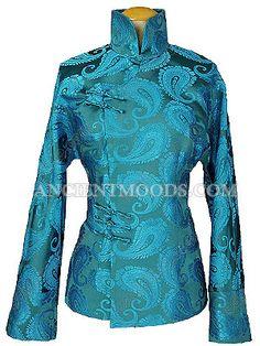 Chinese Woman Silk Brocade Jacket