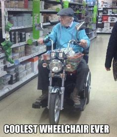 Actually I like this idea--very cool for all you old retired Biker dudes.