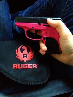 Hot pink 380 Ruger LCP gun for women