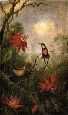 Martin Johnson Heade, Passion Flowers and Hummingbirds, n.d.