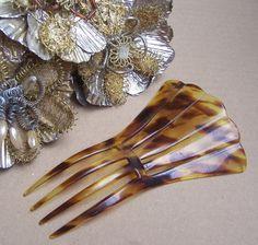 Vintage hair comb Victorian faux tortoiseshell by ElrondsEmporium, $39.00