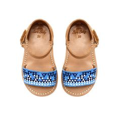 Image 2 of Leather sandal with embroidery from Zara