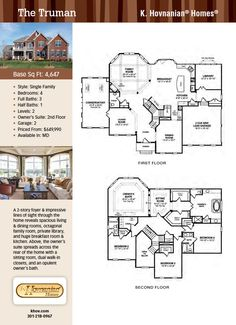 Truman at River Pointe Estates by K Hovnanian Homes Ideas for