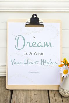Cinderella Quote Printable. Perfect for a little girl's room!