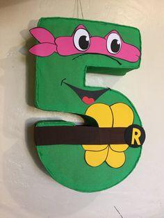Tortugas ninja. Piñata de tortugas ninja. Decoración por aldimyshop