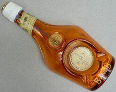 Ashtray B&B Benedictine Brandy Bottle c1940s Ivorex France Glass Advertising Vtg