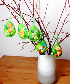 #pisanka #jajko #pisanki #jajka #wielkanoc #święta #easter #easter egg #egg #rękodzieło #handemade #craft #dekoracje #ozdoby #decoration #filc #felt #wiosna #spring Facebook Sign Up, Glass Vase, Spring