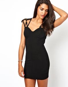 cool edgy little dress! Get a discount here: http://www.studentrate.com/all/get-all-student-deals/ASOS-Student-Discount--/0