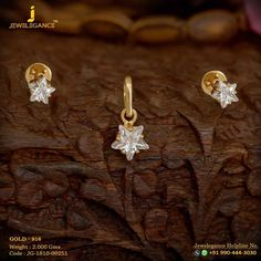 Gold 916 Premium Design Get in touch with us on Gold Earrings Designs, Gold Jewellery Design, Gold Drop Earrings, Gold Rings Jewelry, Bridal Jewelry, Beaded Jewelry, Baby Jewelry, Jewelry Model, Diamond Mangalsutra