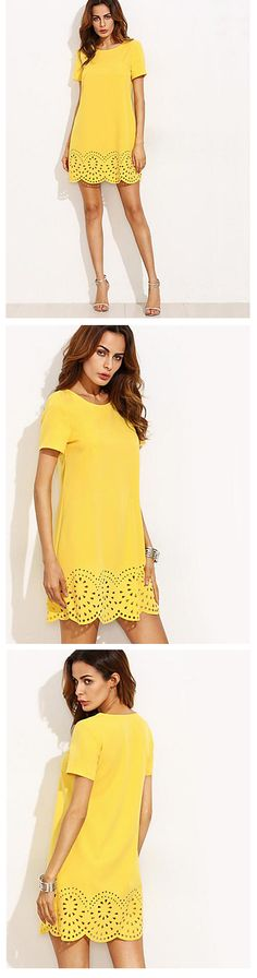 Who doesn't like dresses?! Add this little yellow treasure to your wardrobe - $6.99. Just click on  the picture to see the details.