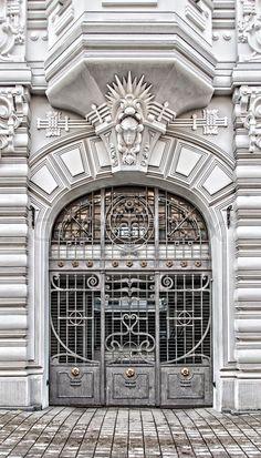 Riga, Jugendstil. Stock Bild von 'Riga Jugendstil-Viertel 03'
