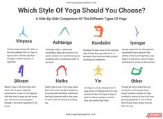 Which Type Of Yoga Should You Choose? A Side-By-Side Comparison Of The Different Types Of Yogas