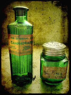 Very old green depression glass.
