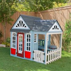 modern outdoor playground Wooden Outdoor Playhouse, Cedar Playhouse, Wooden Swings, Girls Playhouse, Playhouse Ideas, Herb Planter Box, Planter Boxes, Balcony Bench, Luxury Playhouses