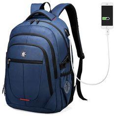 Aoking External USB Charge Computer Bag Polyester Notebook Backpack Men Women Waterproof Laptop Backpack College Students Bag (32786379619)  SEE MORE  #SuperDeals