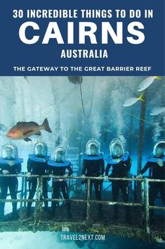 30 Things to do in Cairns. Ocean walking with a helmet along the Agincourt Reef on the very outer edge of the Great Barrier Reef is an experience to remember. Brisbane, Perth, Melbourne, Sydney, Cairns Queensland, Visit Australia, Queensland Australia, Australia Trip, Australia Honeymoon