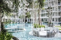 Residents Get Luxurious Garden and Pool Project in Thailand - http://landarchs.com/residents-get-luxurious-garden-pool-project-thailand/