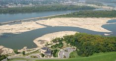 Located on the banks of the Ohio River in Clarksville, Indiana at I-65, exit 0, is the Falls of the Ohio State Park. The 390-million-year-old fossil beds are among the largest, naturally exposed, Devonian fossil beds in the world. (Okay, I know it is actually in Ind., but is just a skip across the mighty Ohio River, and is facinating.  Our kids want to go back every visit!