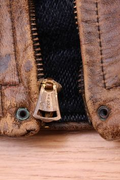 1930's Grizzly Jacket by Laskin. Excellent example of a vintage bell Talon zipper!