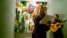 Brenda Clews at Urban Gallery performing her poetry